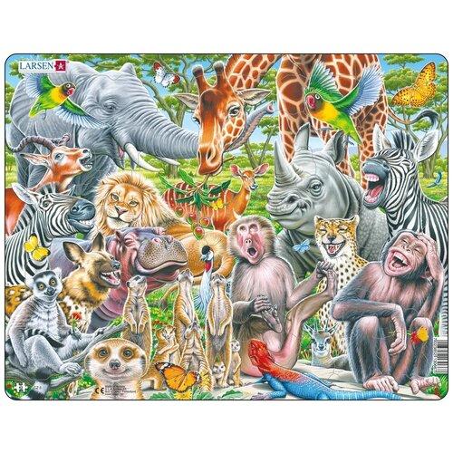 Пазл LARSEN «Счастливые животные Африки», 43 элемента (CZ3)