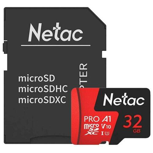 Фото - Карта памяти Netac P500 Extreme Pro 32 GB, чтение: 100 MB/s, адаптер на SD карта памяти netac p500 extreme pro 128 gb чтение 100 mb s