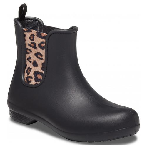 Резиновые полусапоги Crocs Freesail Chelsea Boot, размер 40(W10), leopard/black