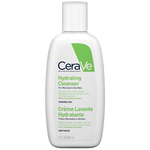 CeraVe крем-гель увлажняющий очищающий для нормальной и сухой кожи лица и тела, 88 мл недорого