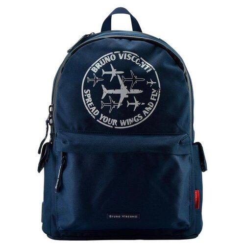 городской рюкзак 18209 синий Городской рюкзак Bruno Visconti Крылья, синий