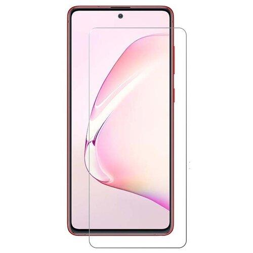 Защитное противоударное стекло MyPads на Samsung Galaxy S10 Lite / Samsung Galaxy A91 с олеофобным покрытием (только на плоскую поверхность экрана не закрывает края экрана на 2-3мм)