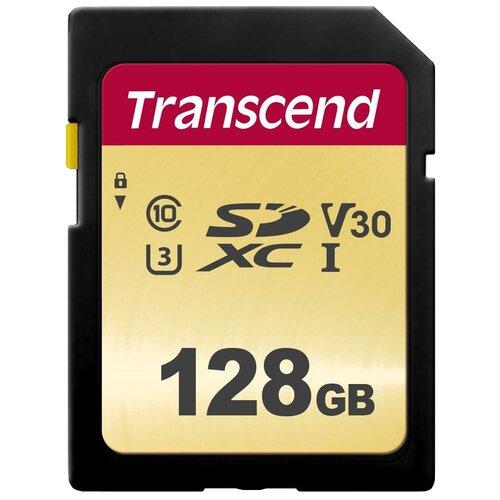 Фото - Карта памяти Transcend TS*SDC500S 128 GB, чтение: 95 MB/s, запись: 60 MB/s карта памяти transcend ts sdxc10 128 gb запись 16 mb s