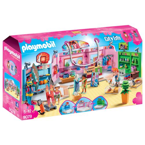 Набор с элементами конструктора Playmobil City Life 9078 Шопинг: Торговый центр