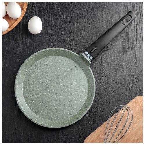 Сковорода блинная 22 cм Фисташковый мрамор АП 4743141 сковорода d 24 см kukmara кофейный мрамор смки240а