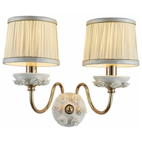 Настенный светильник Люмьен Холл Эрин 1030/2W-GD-WT, 60 Вт