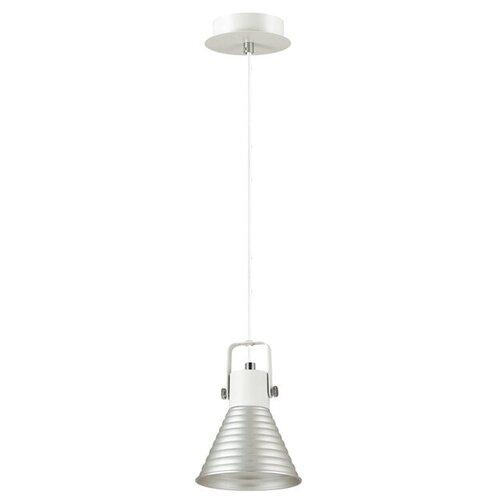 Потолочный светильник Lumion Ollie 3788/1, E14, 40 Вт, кол-во ламп: 1 шт., цвет арматуры: белый, цвет плафона: серебристый подвесной светильник lumion ollie 3788 1