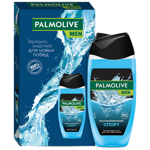 Фото - Гель для душа 3 в 1 Palmolive Men Спорт в подарочной упаковке, 250 мл гель для душа 4 в 1 palmolive men очищение и перезагрузка 250 мл