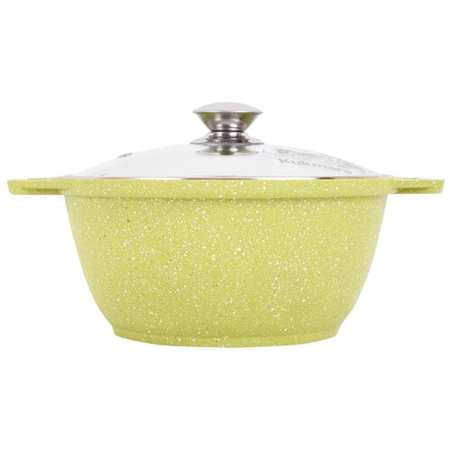 Кастрюля KUKMARA Trendy style lime литая 3,0 л со стеклянной крышкой