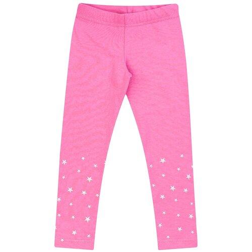 Купить Брюки для девочки Б-1915, Утенок, размер 52(рост 86-92 см) розовый звезды, Брюки и шорты