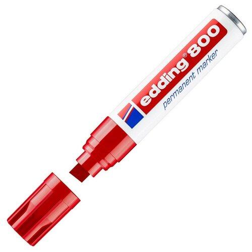 Купить Маркер перманентный EDDING 800/2 красный 4-12 мм скошенный наконеч, Маркеры