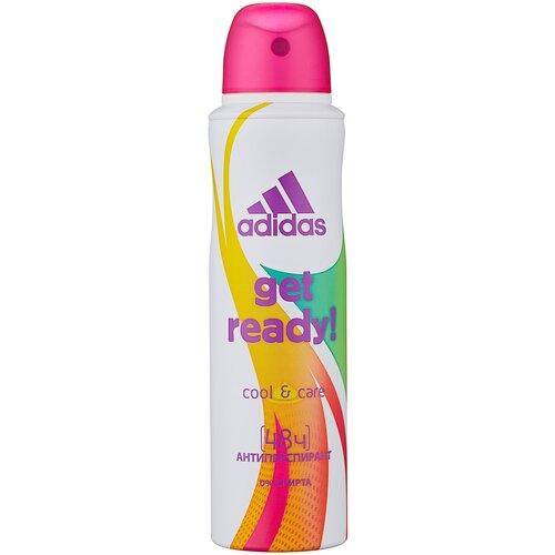 Купить Adidas GET READY дезодорант-антиперспирант, спрей, Cool&Care, 150 мл