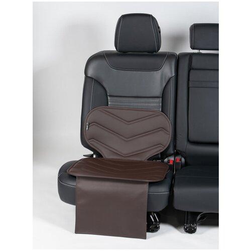 Чехлы (накидки) под бустеры. Защита сидений авто. Цвет: шоколадный. 1 шт. ФАВОРИТ