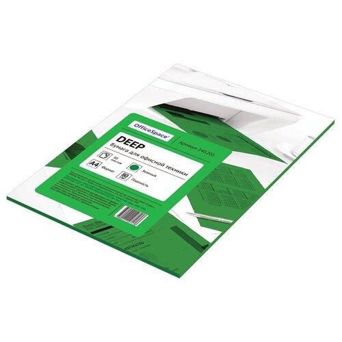 Фото - Бумага OfficeSpace A4 Deep 80 г/м² 50 лист. (цветная), зеленый бумага officespace a4 pale 80г м2 50лист цветная фиолетовый
