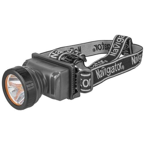 Налобный фонарь Navigator NPT-H10 черный налобный фонарь navigator npt h17 светодиодный 1 cob led 3 вт 10 м