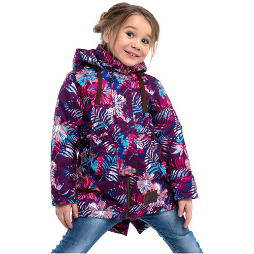 кроссовки для девочки puma st runner v2 nl jr цвет фуксия 36529312 размер 4 5 36 5 Парка для девочки Talvi 02210, размер 116/60, цвет принт фуксия
