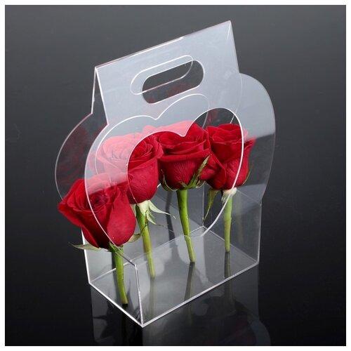 Переноска для цветов из оргстекла 22 х 8,5 х 26 см 2947845