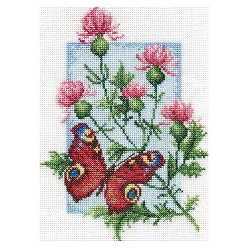 Купить PANNA Набор для вышивания Павлиний глаз 15.5 x 21 см (B-0117), Наборы для вышивания