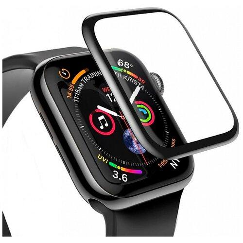 Защитное стекло для Apple Watch 1 Apple Watch 2 и Apple Watch 3 / Премиум защитное стекло для смарт часов Эпл Вотч Серии 1 2 и 3 полная проклейка экрана 4D Full glue (38mm)