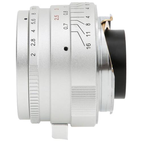 Фото - Объектив 7artisans 35mm f/2.0 Leica M серебристый объектив 7artisans 12mm f 2 8 canon m