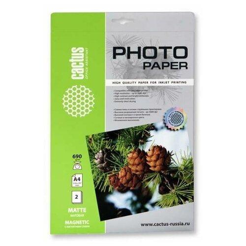 Фото - Бумага cactus A4 CS-MMA46902 690 г/м² 2 лист., белый бумага cactus cs ma4190100 a4 190г кв м матовая 100л