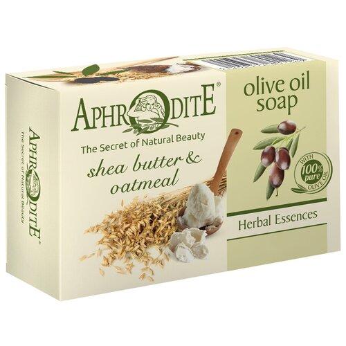 Купить Мыло кусковое Aphrodite Оливковое с маслом дерева Ши и овсяными хлопьями, 100 г