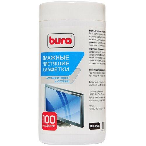 Фото - Buro BU-Tscrl влажные салфетки 100 шт. для экрана влажные салфетки buro bu tscrl 100 шт туба