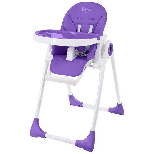Купить Стульчик для кормления Nuovita Lembo, фиолетовый/белый, Стульчики для кормления