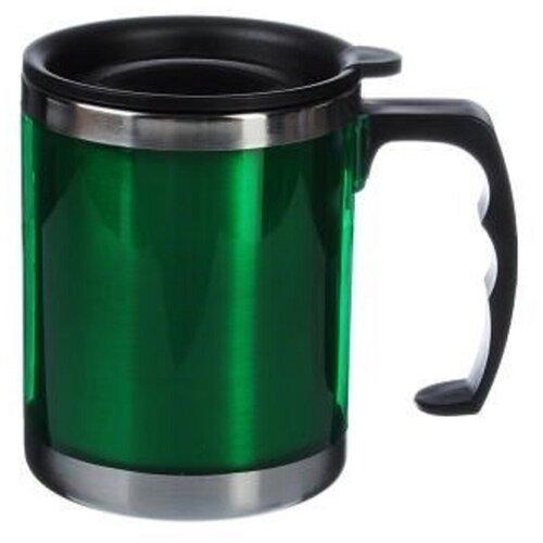 Термос-кружка вакуумная из нержавеющей стали 400мл (Зеленая)