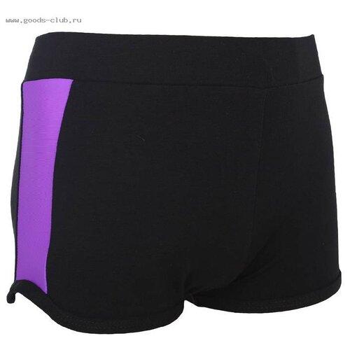 Купить Шорты Grace Dance размер 34, черный/фиолетовый