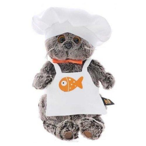 Мягкая игрушка BudiBasa Кот Басик шеф-повар (19см) (в подарочной коробке) Ks19-021, (ООО
