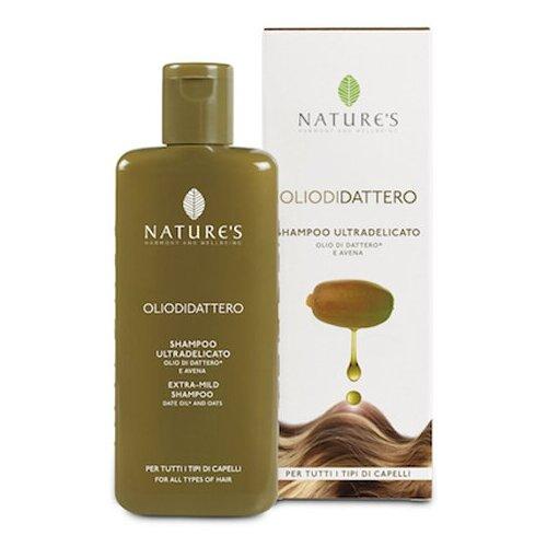 Купить Экстра мягкий шампунь для волос на основе масла семян Финика - Nature's - Olio di Dattero Extra-Mild Shampoo 200 мл.