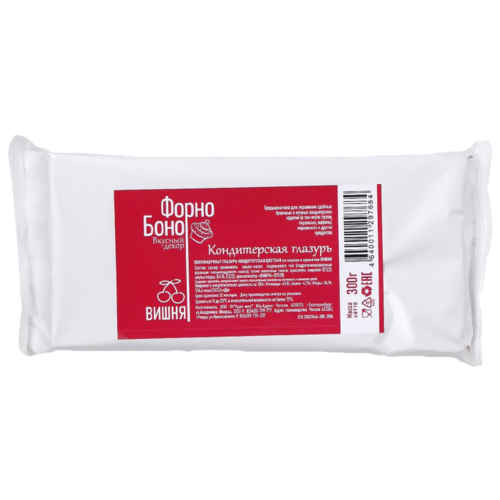 Урал-шок Сахарная глазурь Форно Боно со вкусом и ароматом Вишни 300 г красный