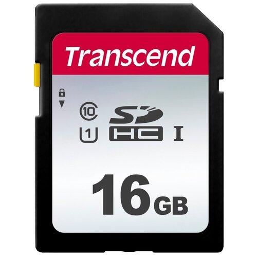 Фото - Карта памяти Transcend TS*SDC300S 16 GB, чтение: 95 MB/s, запись: 10 MB/s карта памяти transcend ts sdxc10 128 gb запись 16 mb s