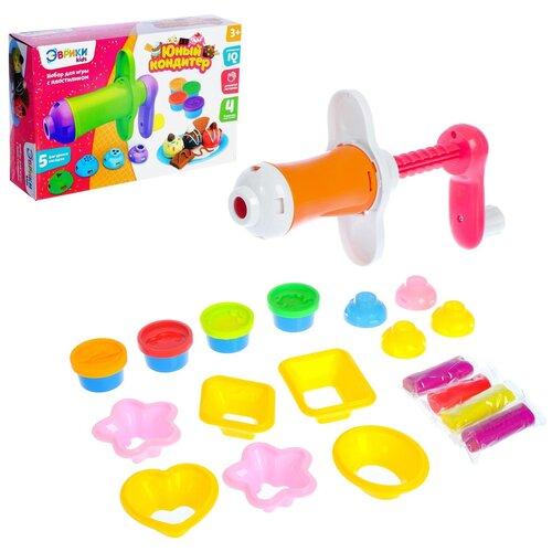 Купить ЭВРИКИ Kids Игровой набор Юный кондитер , масса для лепки 4 цвета, № SL-01233, Пластилин и масса для лепки