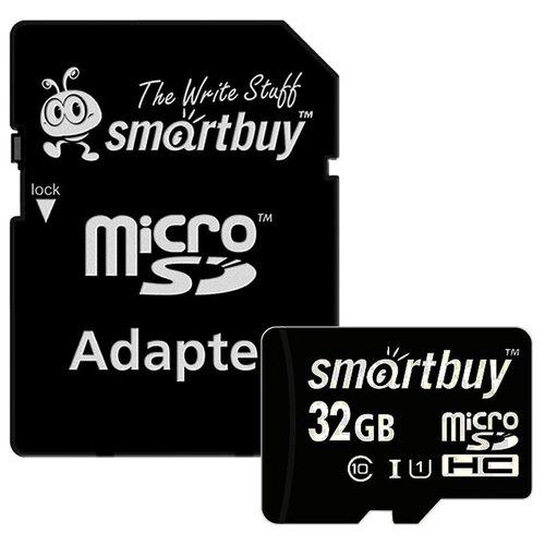 Фото - Карта памяти SmartBuy microSDHC Class 10 UHS-I U1 32GB + SD adapter карта памяти smartbuy microsdhc class 10 32gb sd adapter
