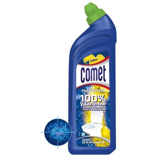 Comet гель для туалета Expert лимон, 0.7 л comet туалетный блок toilet expert антиналет лимон 1 шт