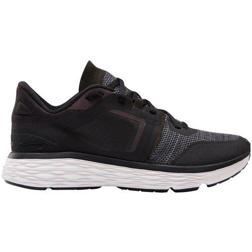 Кроссовки для бега женские RUN COMFORT черно-серые, размер: 38, цвет: Угольный Серый KALENJI Х Декатлон
