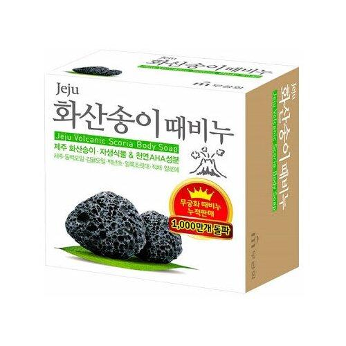 Скраб-мыло для тела Mukunghwa Jeju volcanic scoria body soap с вулканической солью, 100 г