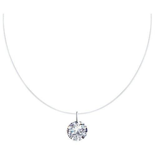 SOKOLOV Колье из серебра с фианитом 94070461, 45 см, 0.94 г