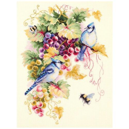 Чудесная Игла набор для вышивания 130-022 Сойки и виноград 25 х 35 см чудесная игла набор для вышивания пионы для умелицы 25 х 25 см 100 124