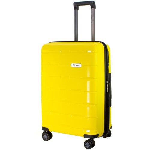 Фото - Чемодан PROFFI Tour Fashion M 62 л, желтый чемодан proffi travel tour fashion 24 pp пластиковый средний 64 5х47х27 желтый