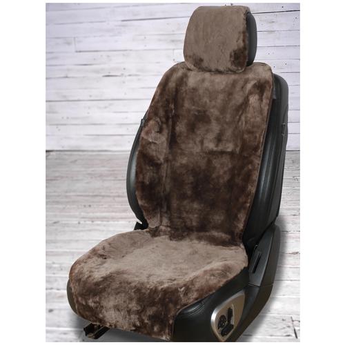 BARASHKOV/ Меховая накидка из мутона на сиденье автомобиля. Модель