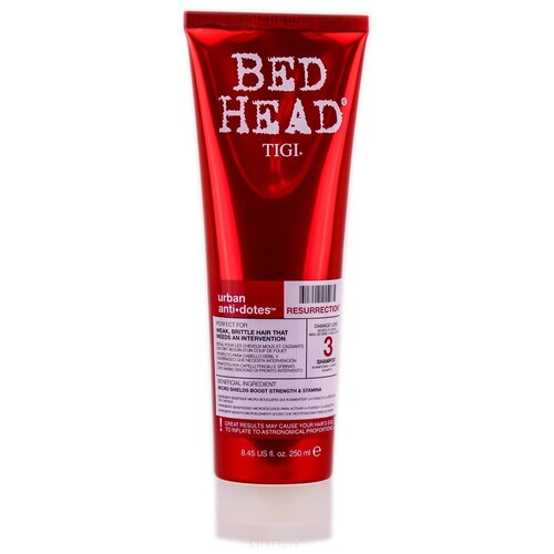 Купить TIGI Bed Head шампунь Urban Anti+dotes 3 Resurrection Level 3 для сильно поврежденных волос, 250 мл