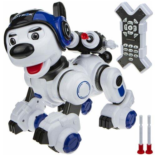 Фото - Робот 1 TOY щенок-робот Дружок Т16453 белый/синий радиоуправляемые игрушки 1 toy интерактивный радиоуправляемый щенок робот дружок