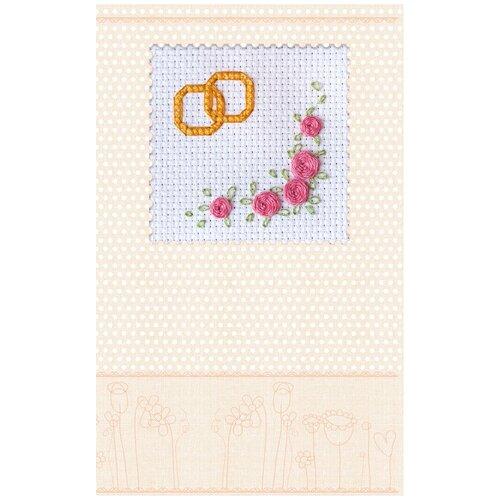 Купить Набор-открытка для вышивки крестом АБРИС АРТ АОН-003 Приглашение 8х8см, ABRIS ART, Наборы для вышивания