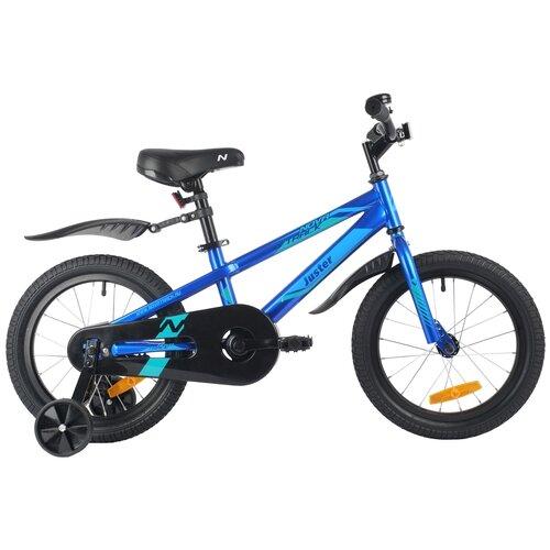 Фото - Детский велосипед Novatrack Juster 16 (2021) синий (требует финальной сборки) детский велосипед novatrack urban 16 2019 синий требует финальной сборки