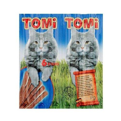 Лакомство для кошек ToMi Sticks с лососем и форелью, 5г х 6шт. в уп. 30 г