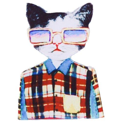 OTOKODESIGN Значок Кот в клетчатой рубашке 52341