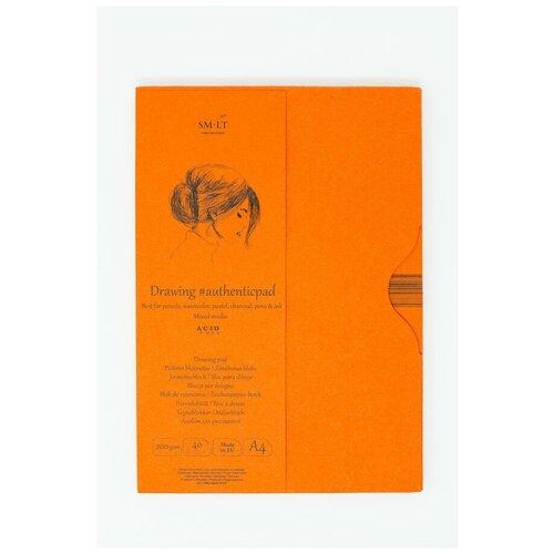 Купить Альбом SM-LT Mixed Media #authenticpad в папке А4 40л 200 г/м2 белый, склейка MIXA-40, Smiltainis, Альбомы для рисования